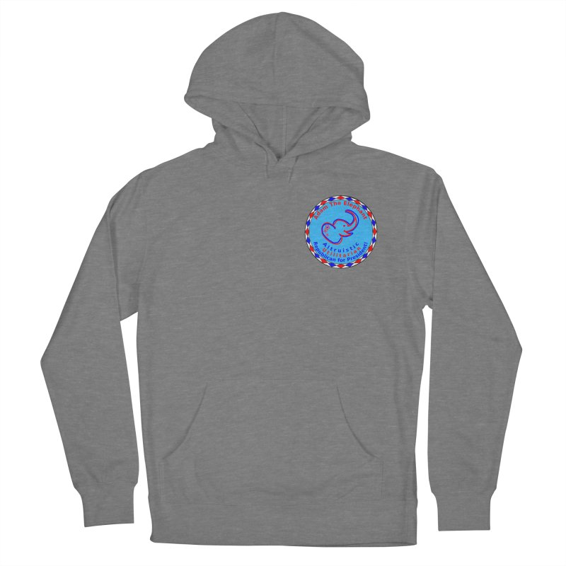 Adam The Elephant - Heart position - Altruistic Utilitarian Republican for President Men's French Terry Pullover Hoody by Ugovi Artist Shop