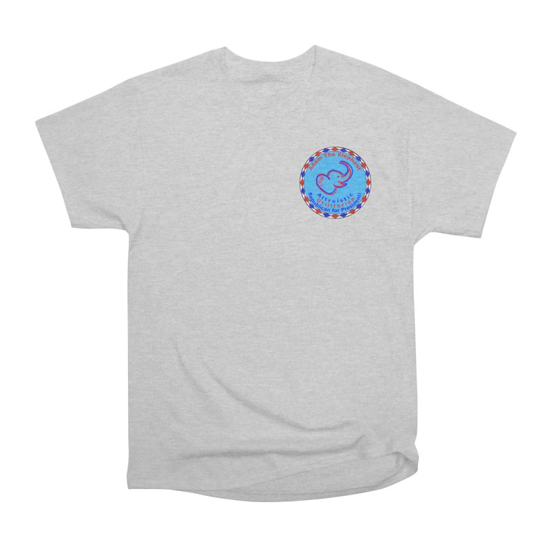 Adam The Elephant - Heart position - Altruistic Utilitarian Republican for President Men's Heavyweight T-Shirt by Ugovi Artist Shop