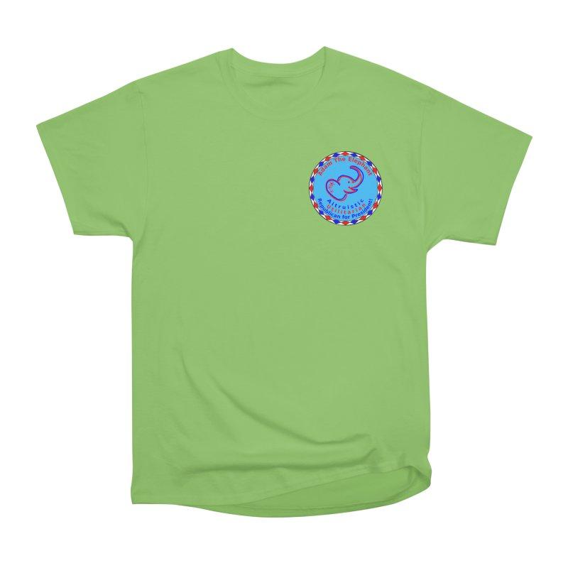 Adam The Elephant - Heart position - Altruistic Utilitarian Republican for President Men's Heavyweight T-Shirt by Ugovi Artist Shop