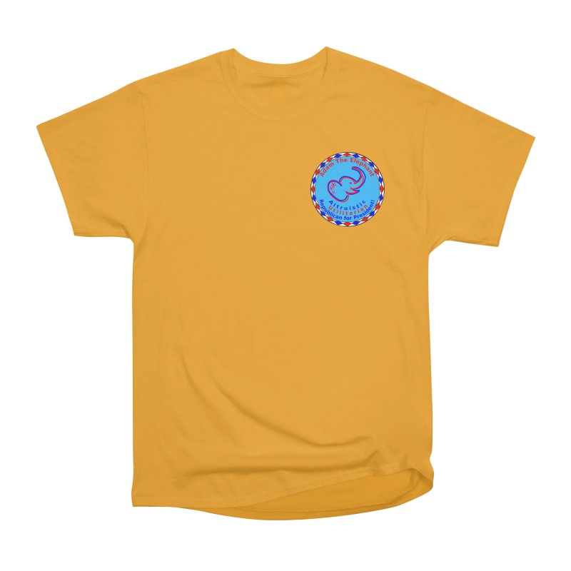 Adam The Elephant - Heart position - Altruistic Utilitarian Republican for President Women's Heavyweight Unisex T-Shirt by Ugovi Artist Shop