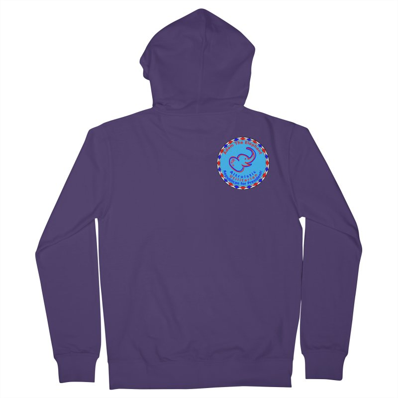 Adam The Elephant - Heart position - Altruistic Utilitarian Republican for President Women's French Terry Zip-Up Hoody by Ugovi Artist Shop