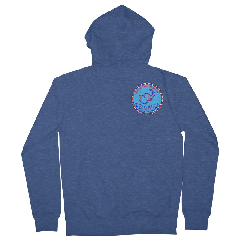 Adam The Elephant - Heart position - Altruistic Utilitarian Republican for President Men's French Terry Zip-Up Hoody by Ugovi Artist Shop