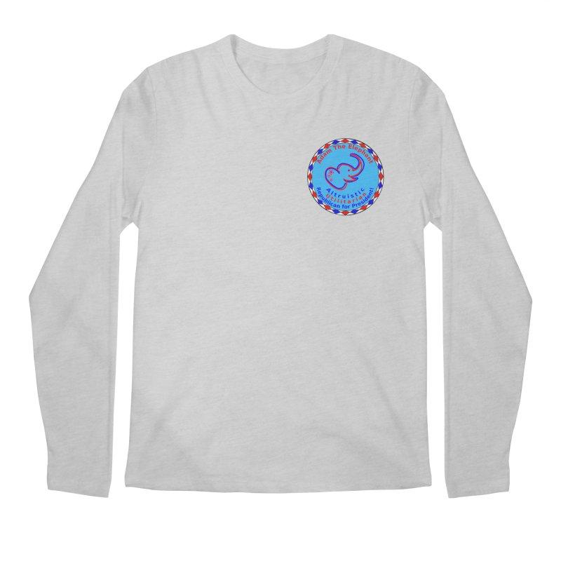 Adam The Elephant - Heart position - Altruistic Utilitarian Republican for President Men's Regular Longsleeve T-Shirt by Ugovi Artist Shop