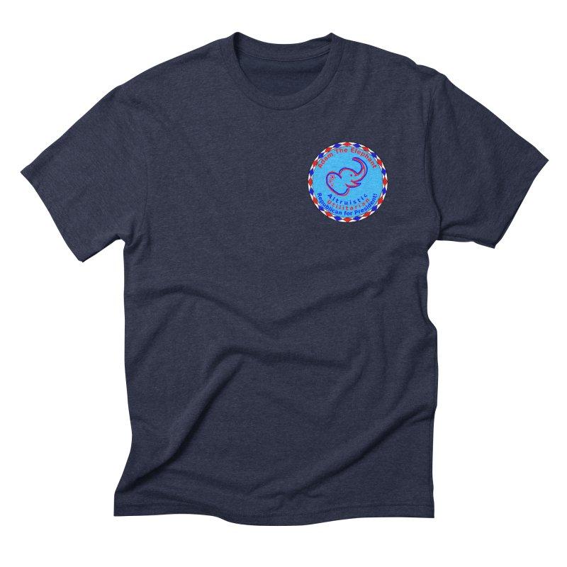 Adam The Elephant - Heart position - Altruistic Utilitarian Republican for President Men's Triblend T-Shirt by Ugovi Artist Shop