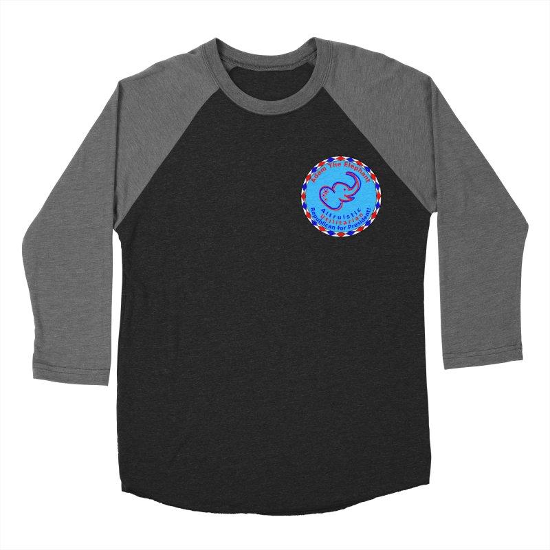 Adam The Elephant - Heart position - Altruistic Utilitarian Republican for President Men's Baseball Triblend Longsleeve T-Shirt by Ugovi Artist Shop