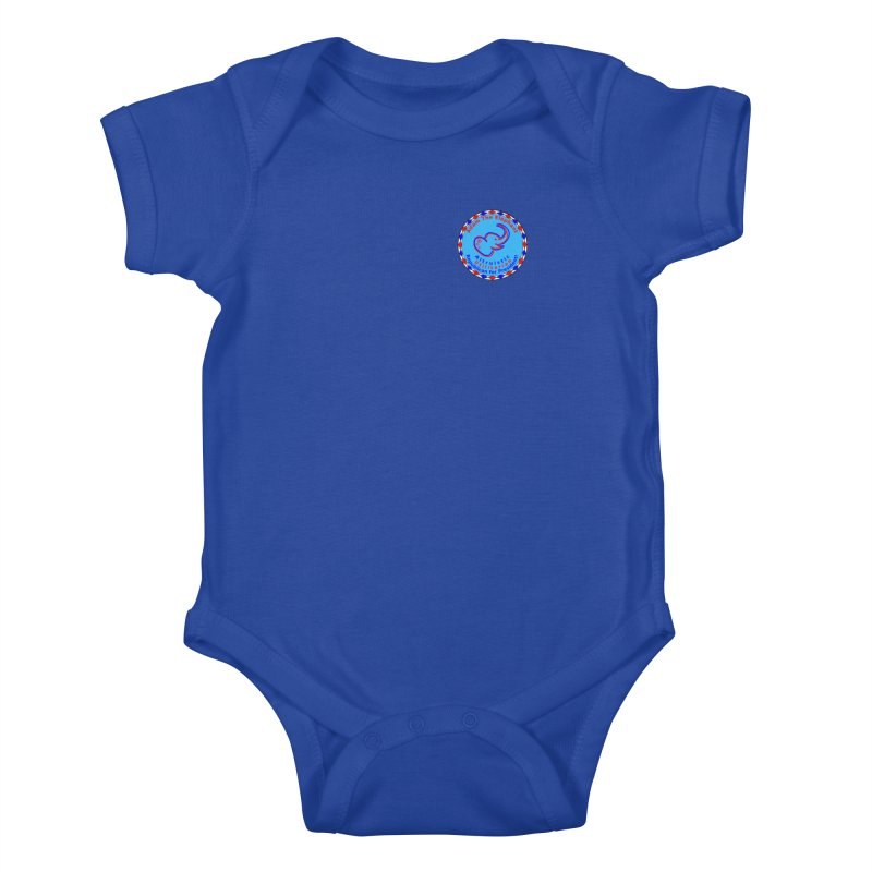 Adam The Elephant - Heart position - Altruistic Utilitarian Republican for President Kids Baby Bodysuit by Ugovi Artist Shop