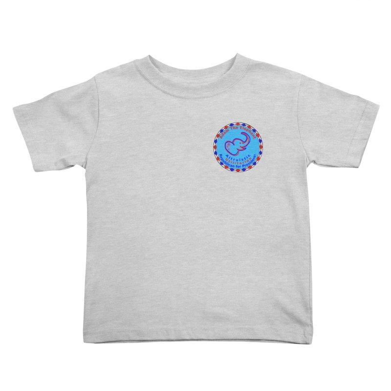 Adam The Elephant - Heart position - Altruistic Utilitarian Republican for President Kids Toddler T-Shirt by Ugovi Artist Shop