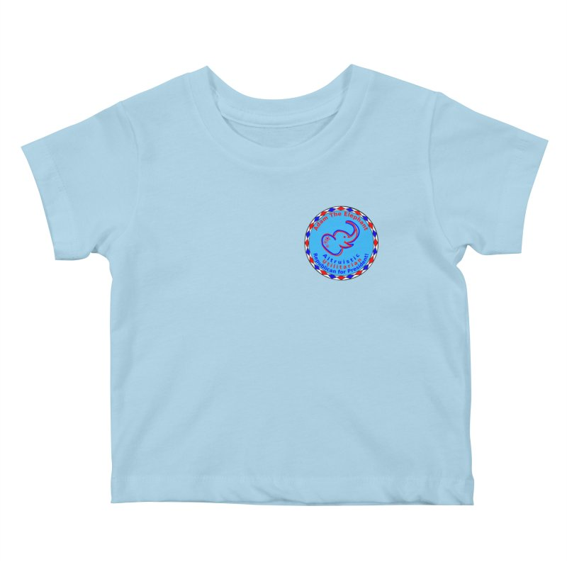 Adam The Elephant - Heart position - Altruistic Utilitarian Republican for President Kids Baby T-Shirt by Ugovi Artist Shop
