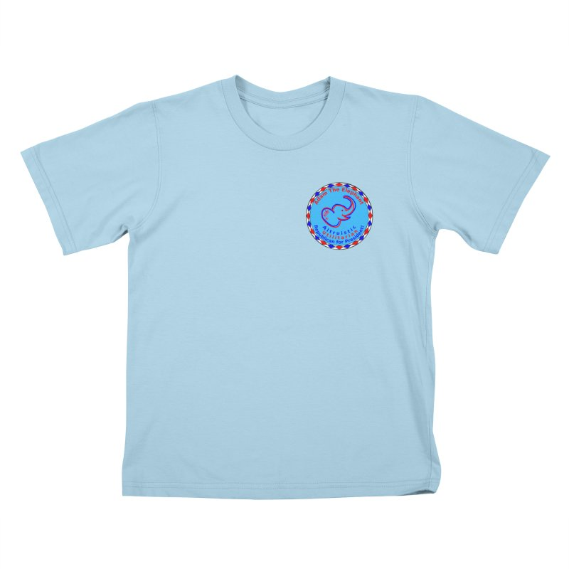Adam The Elephant - Heart position - Altruistic Utilitarian Republican for President Kids T-Shirt by Ugovi Artist Shop