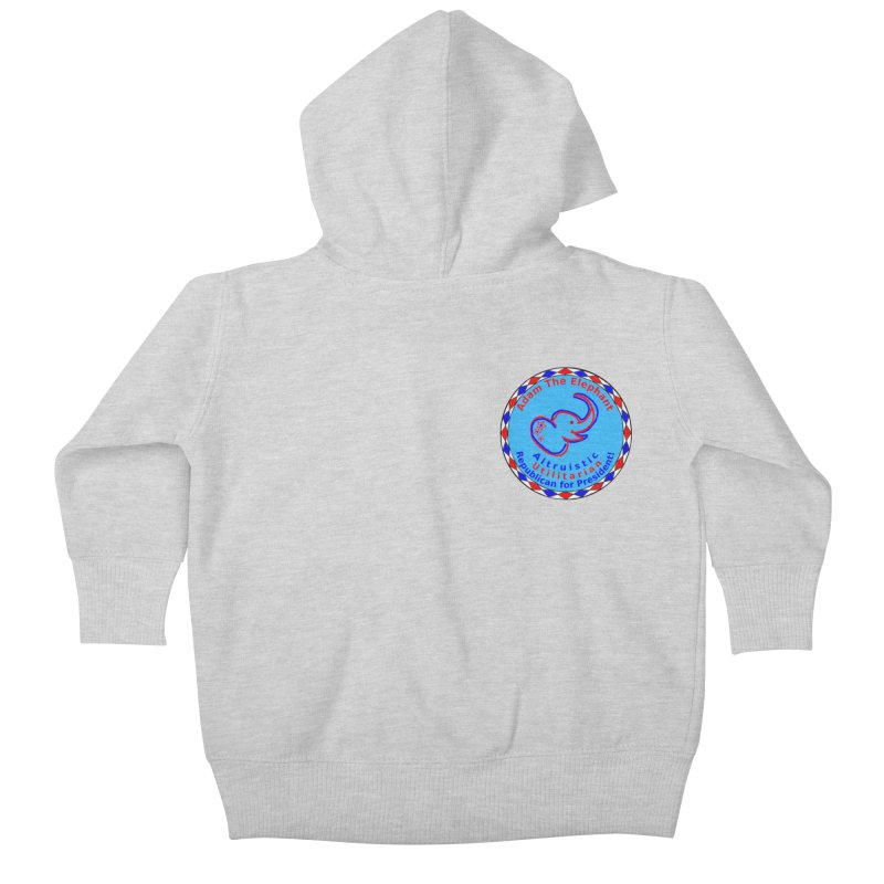 Adam The Elephant - Heart position - Altruistic Utilitarian Republican for President Kids Baby Zip-Up Hoody by Ugovi Artist Shop
