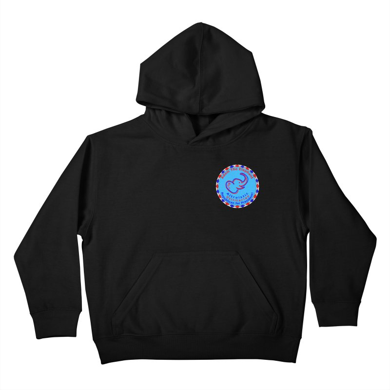 Adam The Elephant - Heart position - Altruistic Utilitarian Republican for President Kids Pullover Hoody by Ugovi Artist Shop
