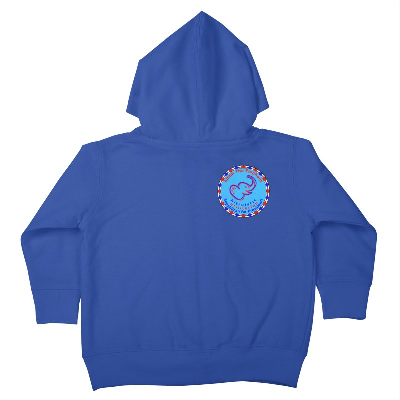 Adam The Elephant - Heart position - Altruistic Utilitarian Republican for President Kids Toddler Zip-Up Hoody by Ugovi Artist Shop