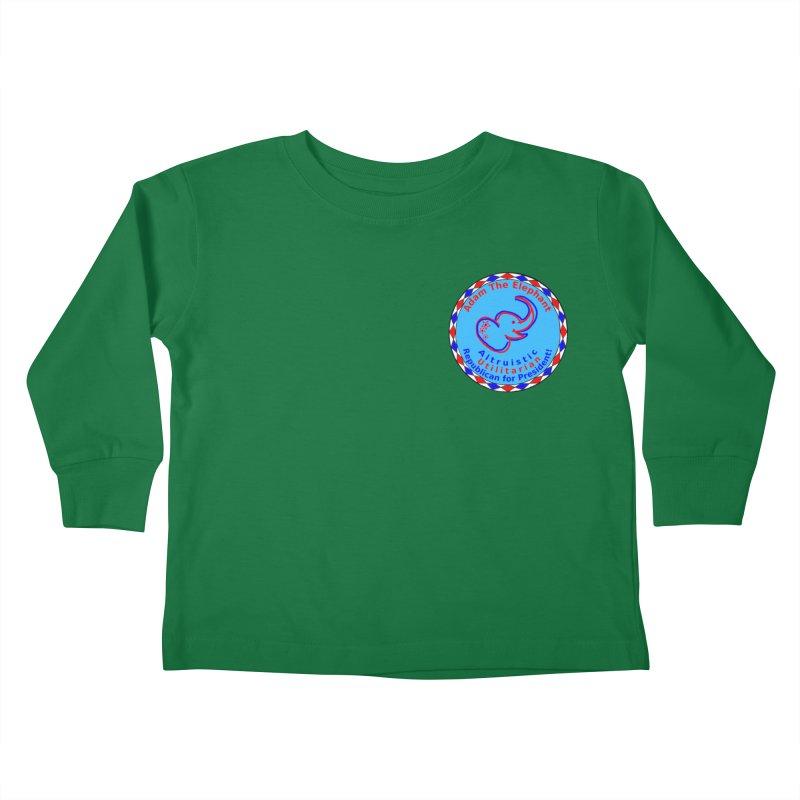 Adam The Elephant - Heart position - Altruistic Utilitarian Republican for President Kids Toddler Longsleeve T-Shirt by Ugovi Artist Shop