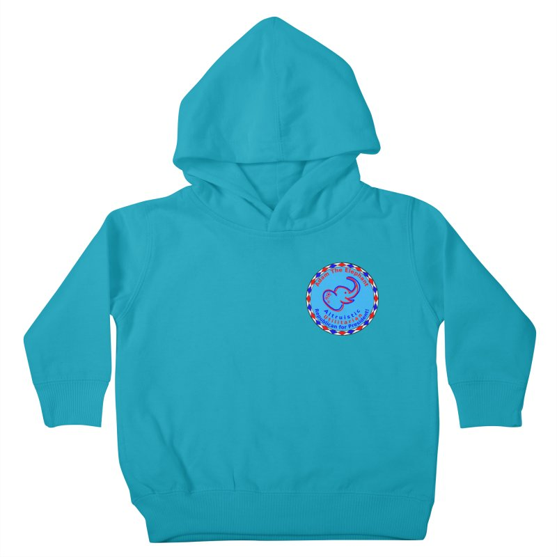 Adam The Elephant - Heart position - Altruistic Utilitarian Republican for President Kids Toddler Pullover Hoody by Ugovi Artist Shop