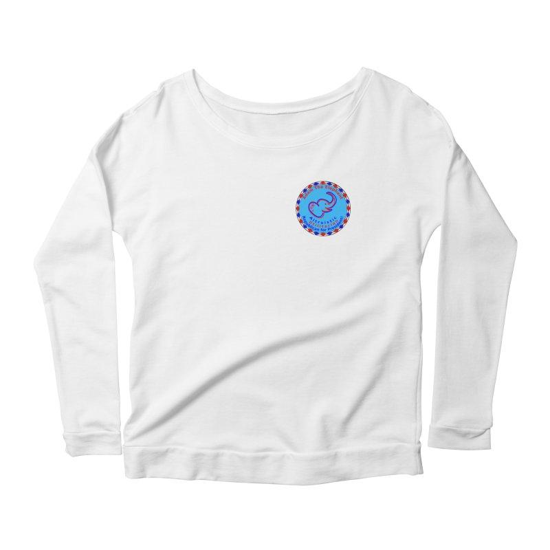 Adam The Elephant - Heart position - Altruistic Utilitarian Republican for President Women's Scoop Neck Longsleeve T-Shirt by Ugovi Artist Shop
