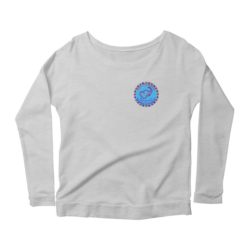 Adam The Elephant - Heart position - Altruistic Utilitarian Republican for President Women's Scoop Neck Longsleeve T-Shirt by Ugovi Artist Shop