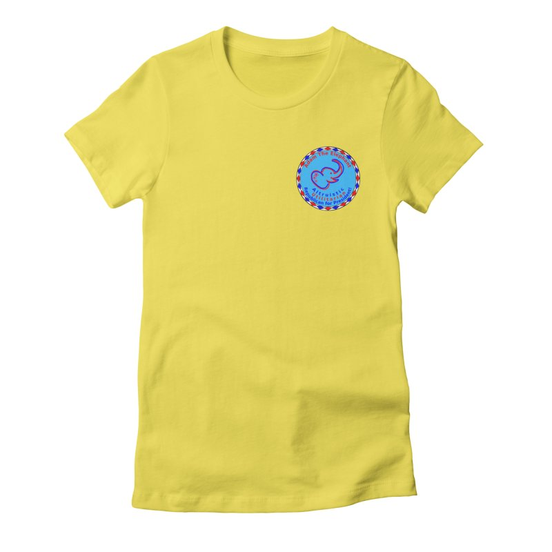 Adam The Elephant - Heart position - Altruistic Utilitarian Republican for President Women's Fitted T-Shirt by Ugovi Artist Shop