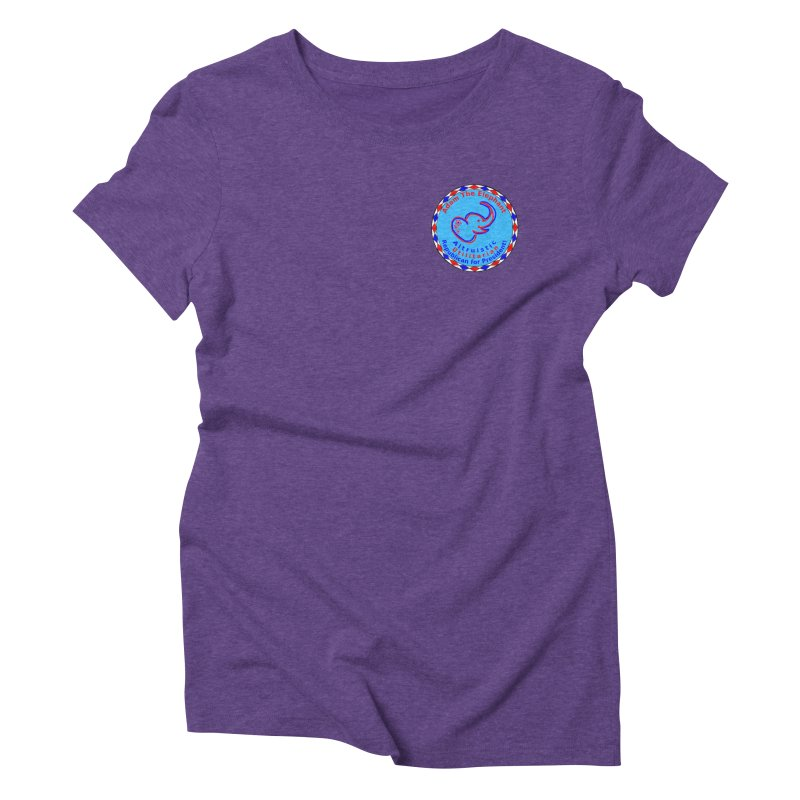 Adam The Elephant - Heart position - Altruistic Utilitarian Republican for President Women's Triblend T-Shirt by Ugovi Artist Shop