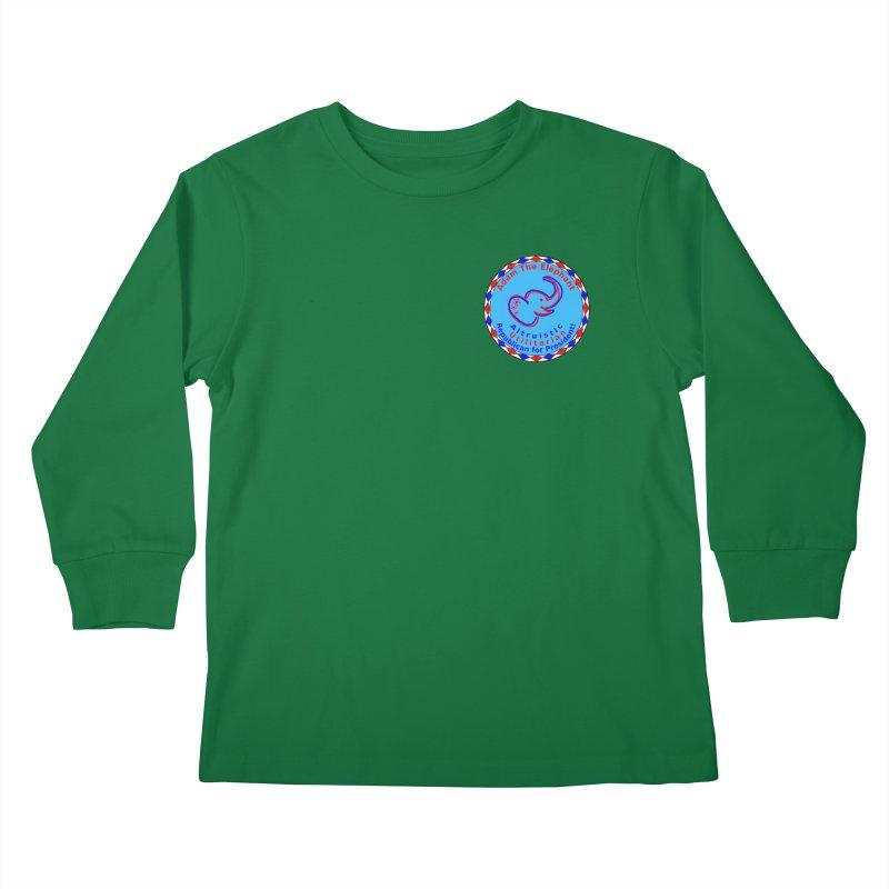 Adam The Elephant - Heart position - Altruistic Utilitarian Republican for President Kids Longsleeve T-Shirt by Ugovi Artist Shop