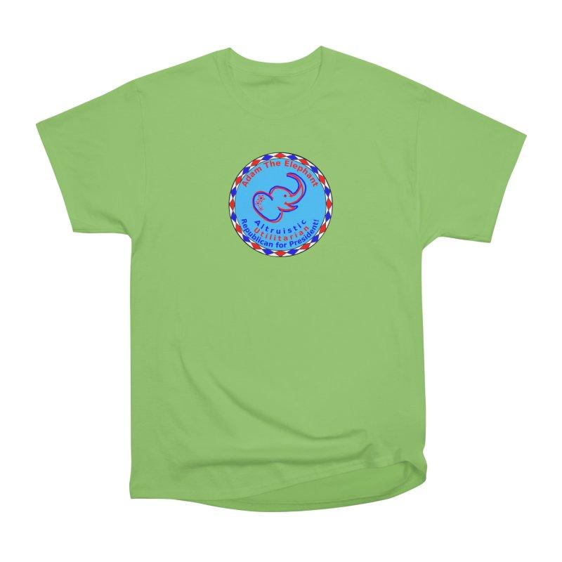 Adam The Elephant - Center Chest - Altruistic Utilitarian Republican For President Men's Heavyweight T-Shirt by Ugovi Artist Shop