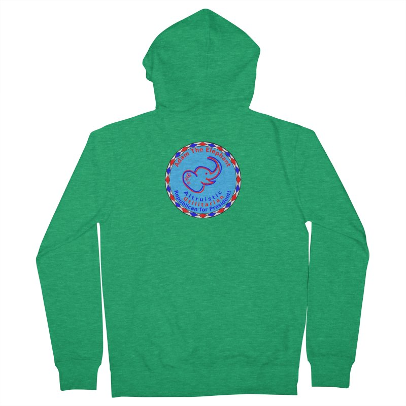 Adam The Elephant - Center Chest - Altruistic Utilitarian Republican For President Men's Zip-Up Hoody by Ugovi Artist Shop