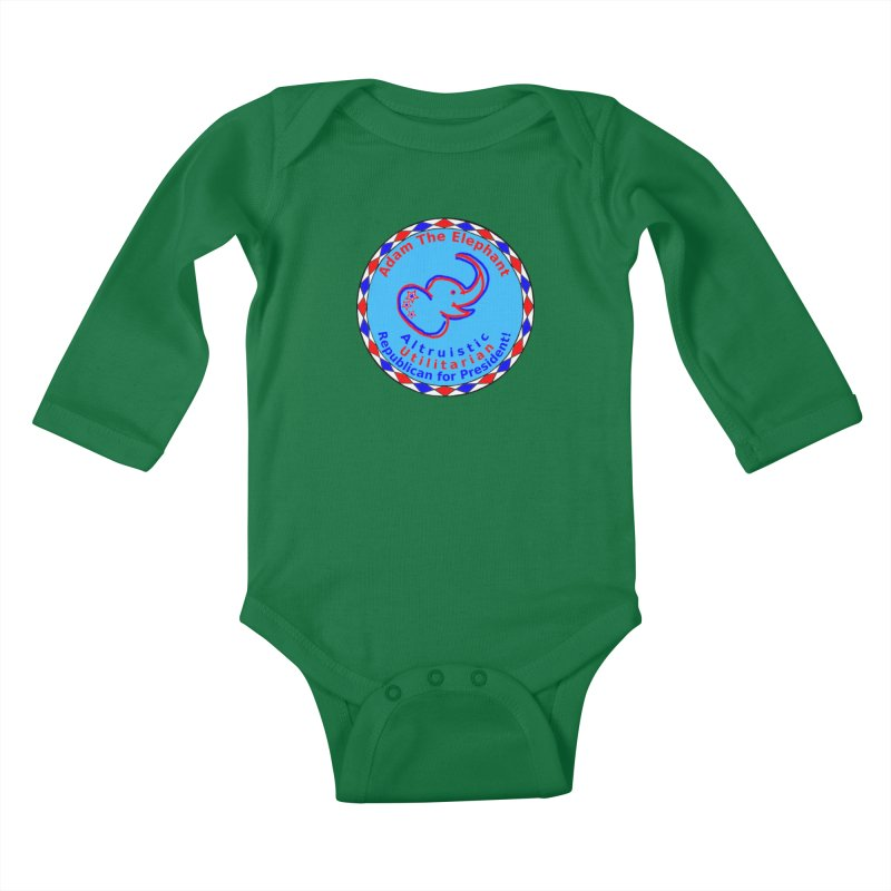 Adam The Elephant - Center Chest - Altruistic Utilitarian Republican For President Kids Baby Longsleeve Bodysuit by Ugovi Artist Shop