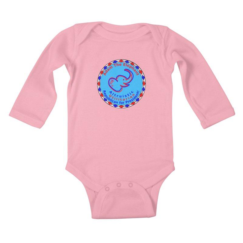 Adam The Elephant - Center Chest - Altruistic Utilitarian Republican For President Kids Baby Longsleeve Bodysuit by Ugovi Artist Shop