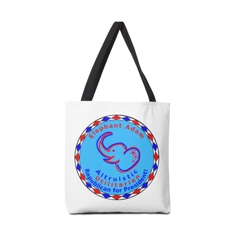 Elephant Adam - Heart Position - Altruistic Utilitarian Republican For President Accessories Tote Bag Bag by Ugovi Artist Shop