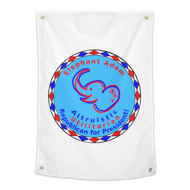 Elephant Adam - Heart Position - Altruistic Utilitarian Republican For President Home Tapestry by Ugovi Artist Shop