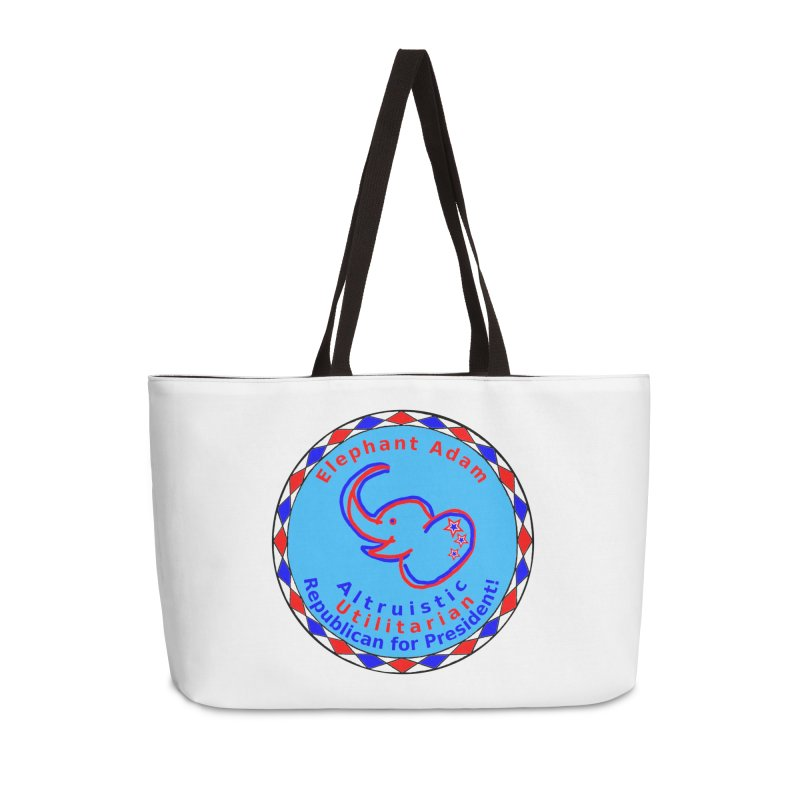 Elephant Adam - Heart Position - Altruistic Utilitarian Republican For President Accessories Weekender Bag Bag by Ugovi Artist Shop