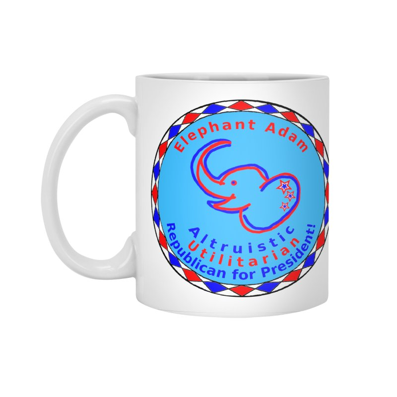 Elephant Adam - Heart Position - Altruistic Utilitarian Republican For President Accessories Mug by Ugovi Artist Shop