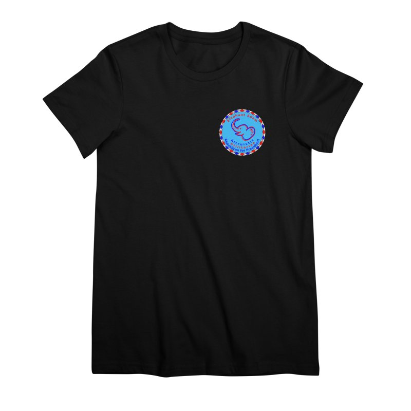 Elephant Adam - Heart Position - Altruistic Utilitarian Republican For President Women's Premium T-Shirt by Ugovi Artist Shop
