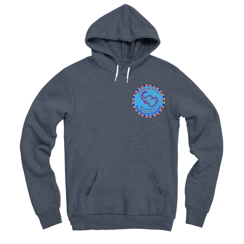 Elephant Adam - Heart Position - Altruistic Utilitarian Republican For President Women's Sponge Fleece Pullover Hoody by Ugovi Artist Shop