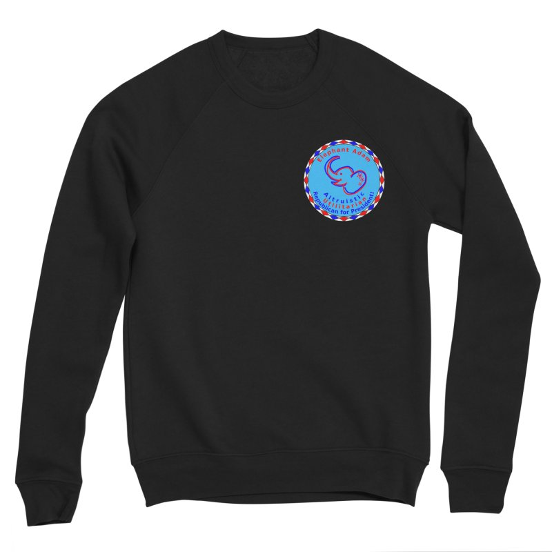 Elephant Adam - Heart Position - Altruistic Utilitarian Republican For President Women's Sponge Fleece Sweatshirt by Ugovi Artist Shop