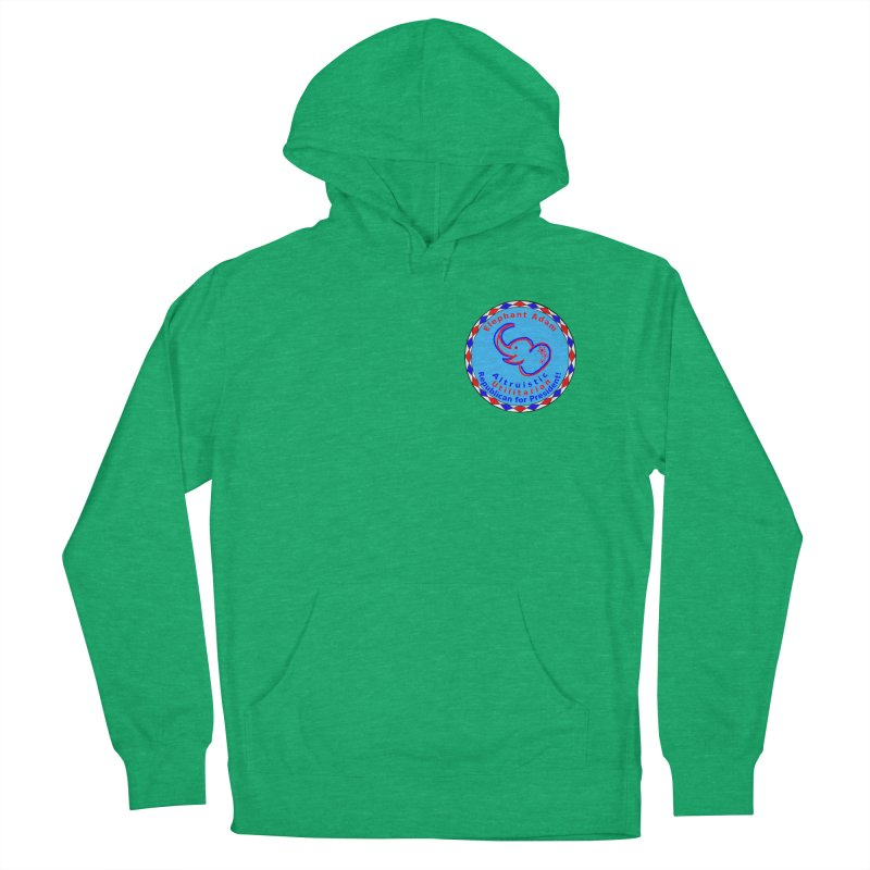 Elephant Adam - Heart Position - Altruistic Utilitarian Republican For President Women's French Terry Pullover Hoody by Ugovi Artist Shop