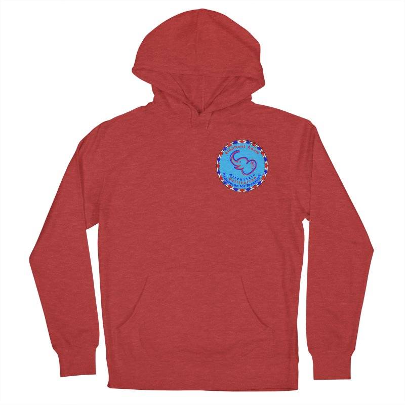 Elephant Adam - Heart Position - Altruistic Utilitarian Republican For President Men's French Terry Pullover Hoody by Ugovi Artist Shop