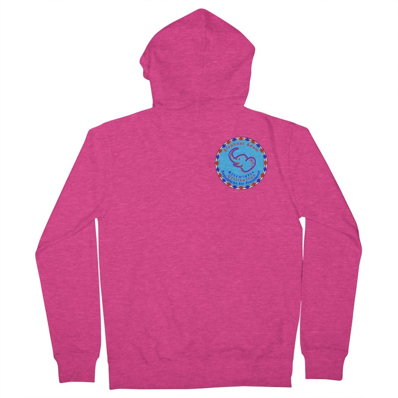 Elephant Adam - Heart Position - Altruistic Utilitarian Republican For President Women's French Terry Zip-Up Hoody by Ugovi Artist Shop