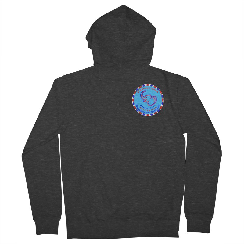 Elephant Adam - Heart Position - Altruistic Utilitarian Republican For President Men's French Terry Zip-Up Hoody by Ugovi Artist Shop