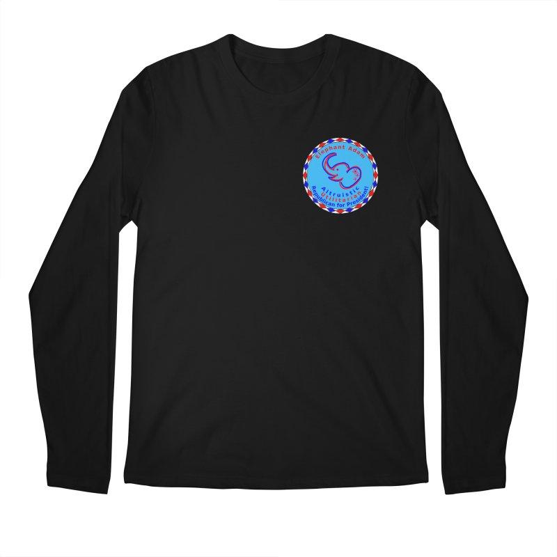 Elephant Adam - Heart Position - Altruistic Utilitarian Republican For President Men's Regular Longsleeve T-Shirt by Ugovi Artist Shop