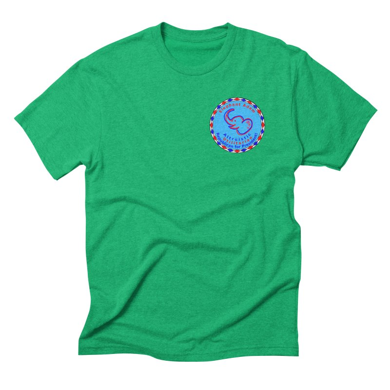 Elephant Adam - Heart Position - Altruistic Utilitarian Republican For President Men's Triblend T-Shirt by Ugovi Artist Shop