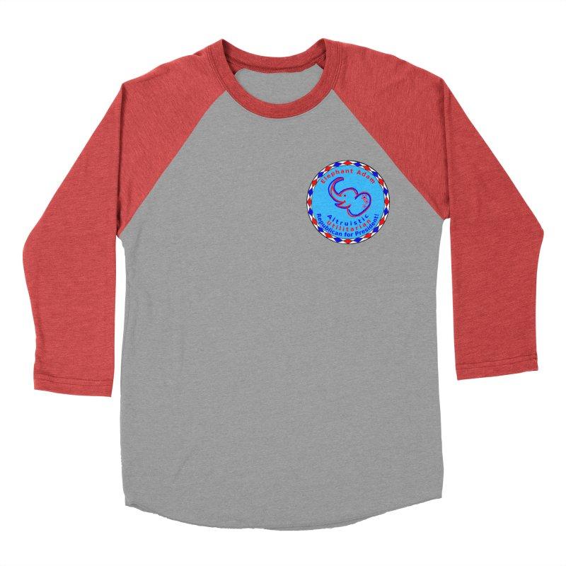 Elephant Adam - Heart Position - Altruistic Utilitarian Republican For President Women's Baseball Triblend Longsleeve T-Shirt by Ugovi Artist Shop