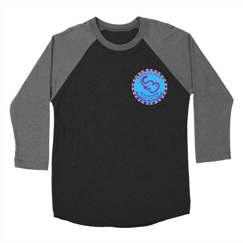 Elephant Adam - Heart Position - Altruistic Utilitarian Republican For President Men's Baseball Triblend Longsleeve T-Shirt by Ugovi Artist Shop