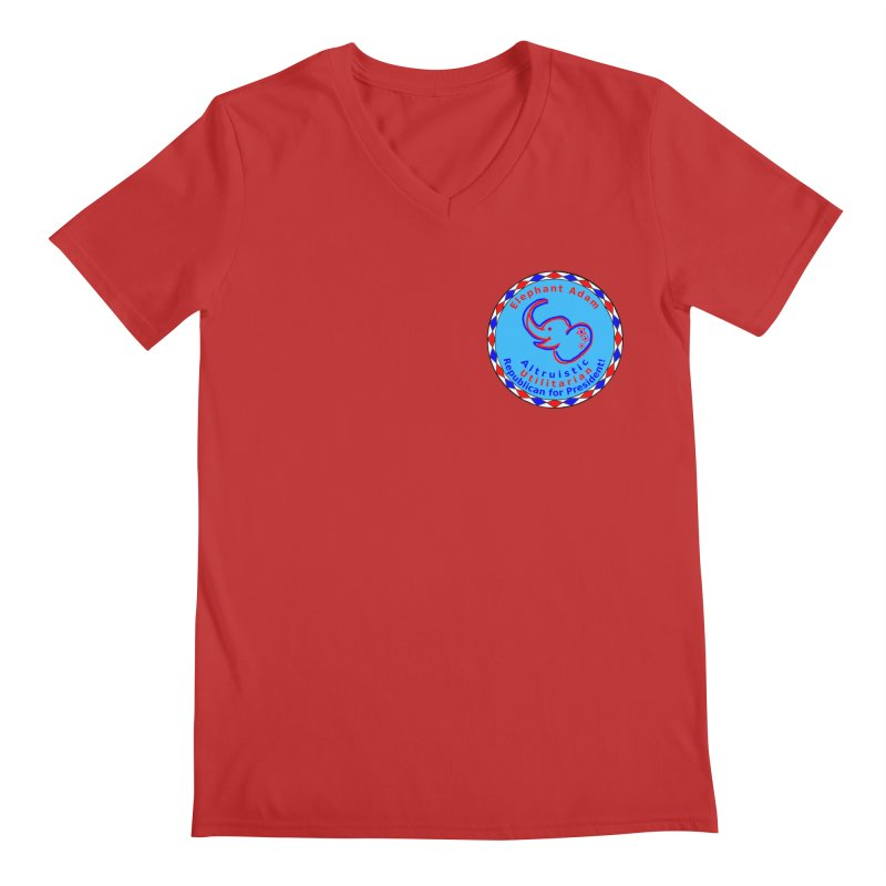Elephant Adam - Heart Position - Altruistic Utilitarian Republican For President Men's Regular V-Neck by Ugovi Artist Shop