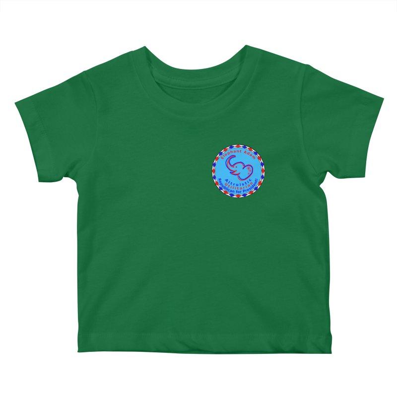 Elephant Adam - Heart Position - Altruistic Utilitarian Republican For President Kids Baby T-Shirt by Ugovi Artist Shop