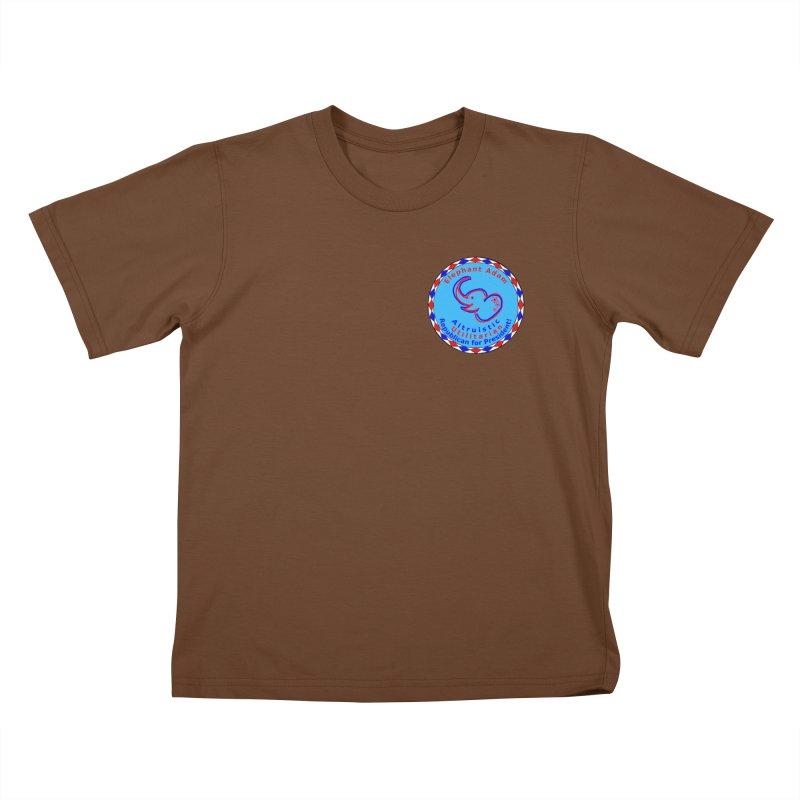 Elephant Adam - Heart Position - Altruistic Utilitarian Republican For President Kids T-Shirt by Ugovi Artist Shop