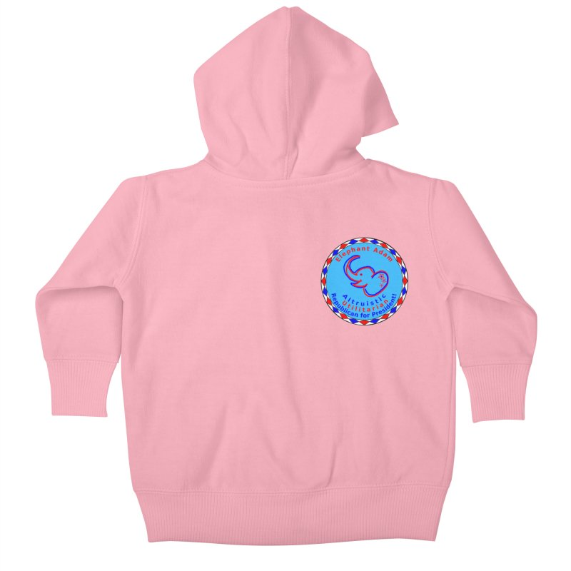 Elephant Adam - Heart Position - Altruistic Utilitarian Republican For President Kids Baby Zip-Up Hoody by Ugovi Artist Shop