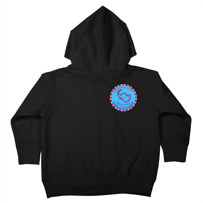 Elephant Adam - Heart Position - Altruistic Utilitarian Republican For President Kids Toddler Zip-Up Hoody by Ugovi Artist Shop