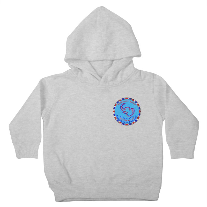 Elephant Adam - Heart Position - Altruistic Utilitarian Republican For President Kids Toddler Pullover Hoody by Ugovi Artist Shop