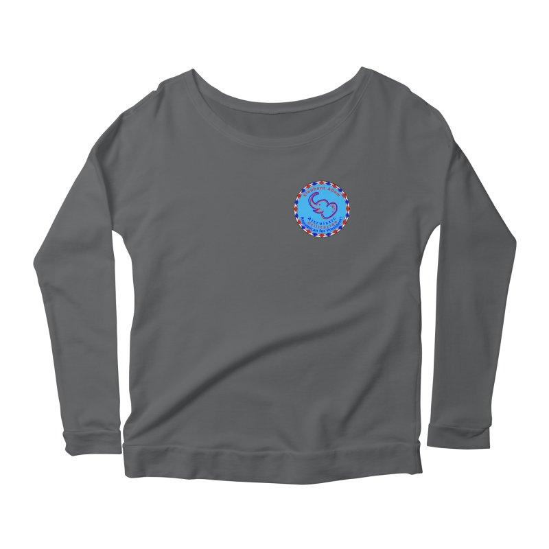 Elephant Adam - Heart Position - Altruistic Utilitarian Republican For President Women's Scoop Neck Longsleeve T-Shirt by Ugovi Artist Shop