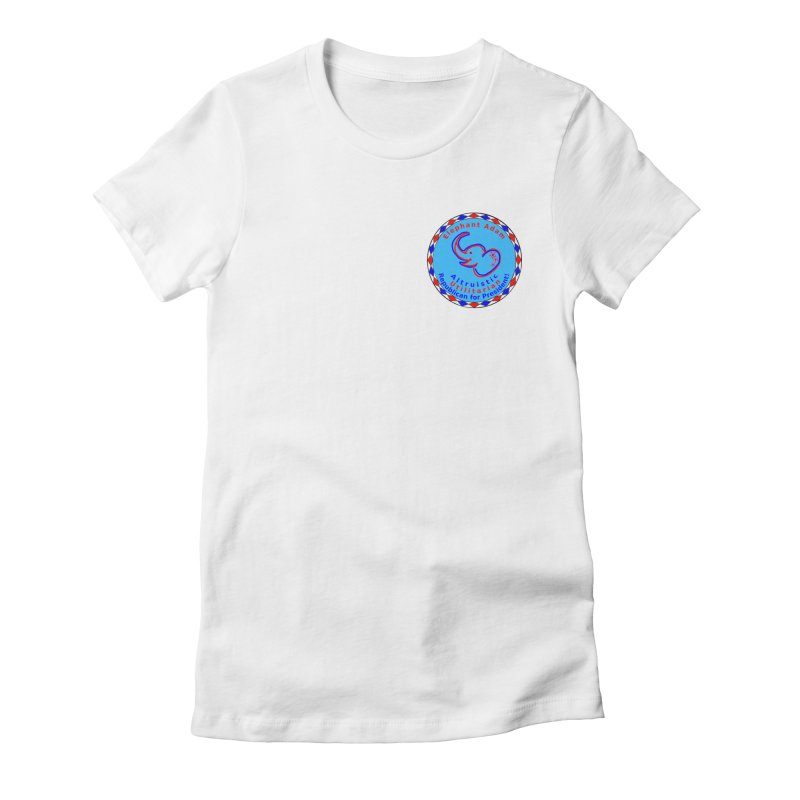 Elephant Adam - Heart Position - Altruistic Utilitarian Republican For President Women's Fitted T-Shirt by Ugovi Artist Shop